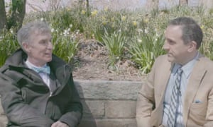 Screengrab of interview between Bill Nye, left, and Marc Morano