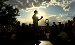 O'Rourke held a town hall meeting in Aurora, Colorado in September.