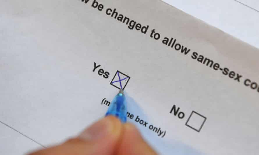 A marriage equality postal vote