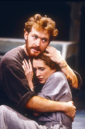 Neal Foster (Hamlet) and Daniele Lydon (Ophelia) in a production directed by Richard Dreyfuss at the Old Rep theatre, Birmingham, in 1994