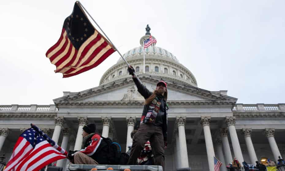 Pro-Trump protesters storm the US Capitol, on 6 January.