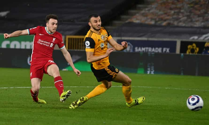 Diogo Jota scores what proved Liverpool's winner at his former club Wolves