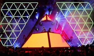 Pyramid selling … Daft Punk introduce dance music to a US rock audience at the 2006 Coachella festival.