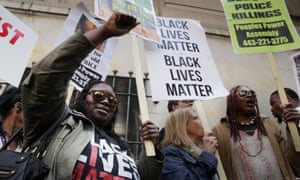 Demonstrators in Baltimore ... 'I found it very disturbing that there was this orchestrated, well-funded attempt to exploit our divisions.'