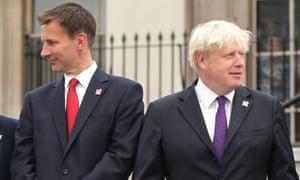 Jeremy Hunt and Boris Johnson in 2012.