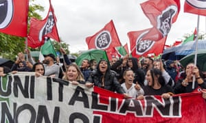 A far-right rally in Rome, Italy