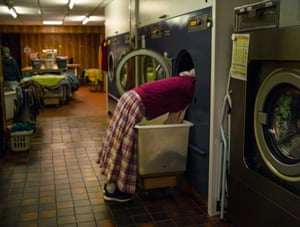 Community laundry, Darvell, East sussex. Shalom, young and unmarried adults are key to the day to day life of the community, fulfilling key rolls in the kitchens, workshops and laundry