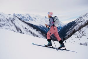 Zoe Pye in Chamonix