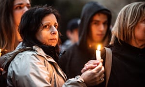 A vigil outside the Tree of Life synagogue in Pittsburgh