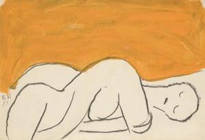 Gouache, 1973, Roger Hilton