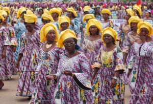 International Women's Day celebrations in Yaounde, Cameroon
