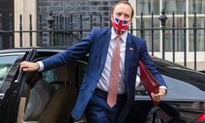 Former health secretary Matt Hancock arriving at Downing Street last month.