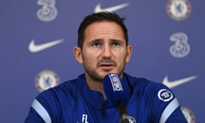 Frank Lampard at Chelsea press conference