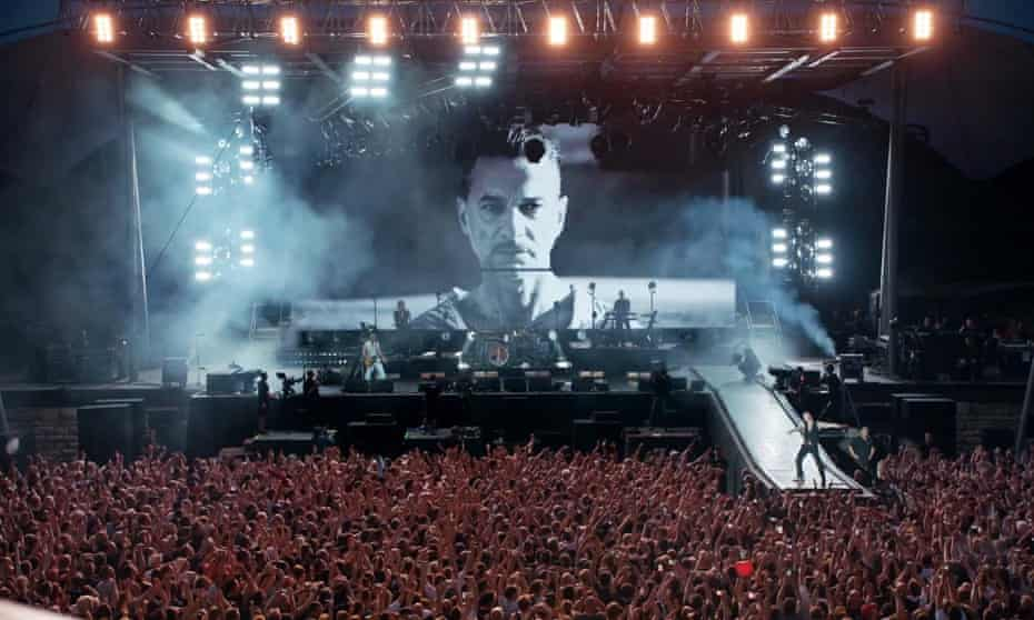 A still from Spirits in the Forest, the concert documentary of Depeche Mode's gig at the Berlin Waldbühne, by Anton Corbijn.