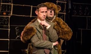 Ian Hallard as Alan Turing and Bryan Pilkington as his teddy in Lovesong of the Electric Bear.