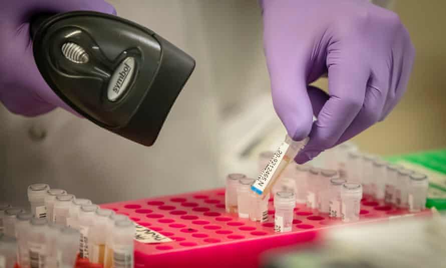 coronavirus testing procedure at the pathology labs, Leeds General Infirmary