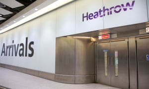 Arrivals hall at Terminal 4, Heathrow airport, London