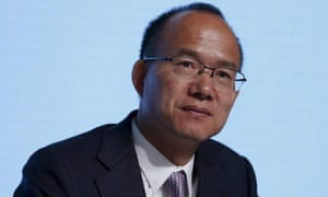 Guo Guangchang, executive director and chairman of Fosun International, at the company's annual general meeting in Hong Kong in May 2015.