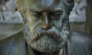 A statue of Karl Marx in Berlin