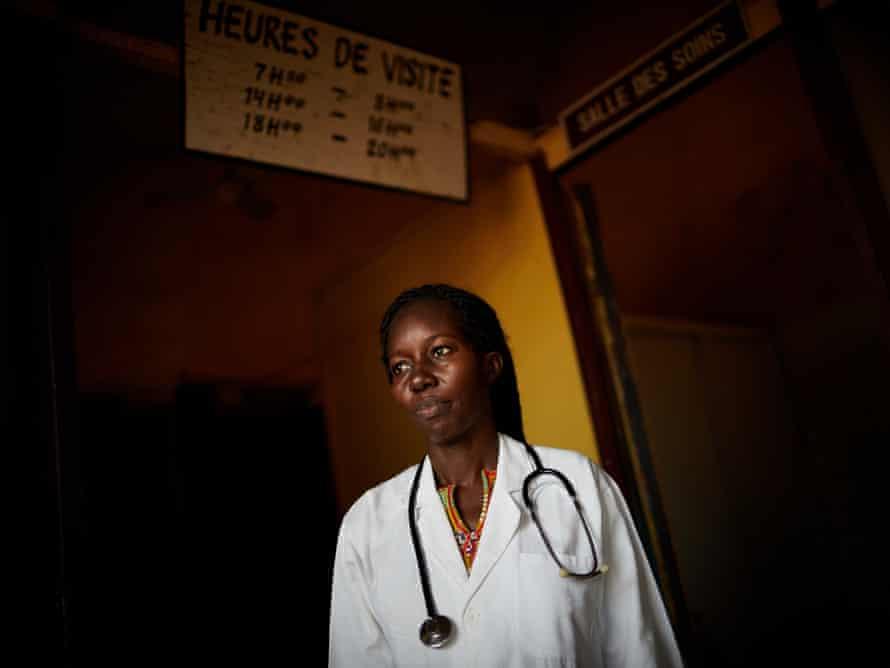 Dr Anaurite Nyaboleka at her health clinic in Mbandaka