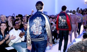 Back pack: models on the Louis Vuitton spring/summer 2016 catwalk.