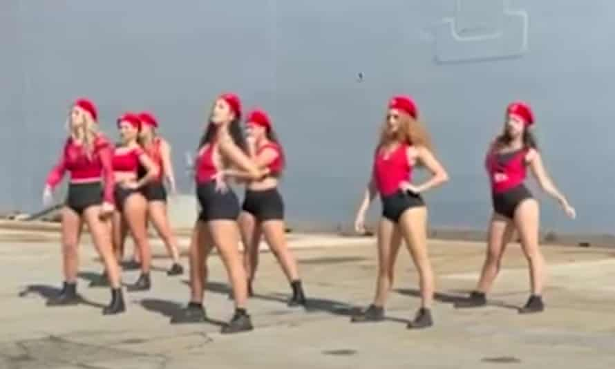 101 Doll Squadron dancers perform at the navy event in Sydney