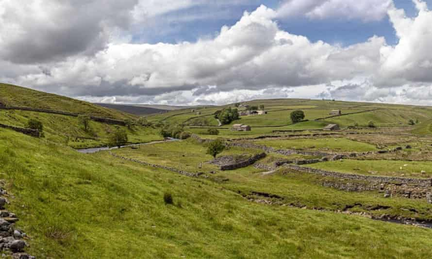 The view of Pry House Farm B&B in Upper Swaledale.