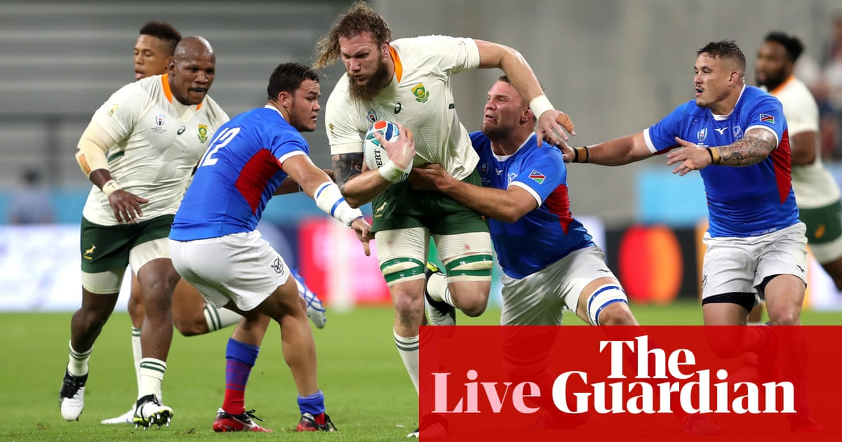South Africa v Namibia: Rugby World Cup 2019 – live!