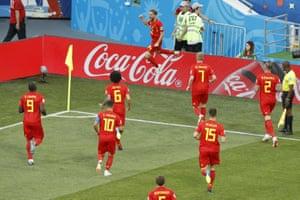 Belgium look relieved.
