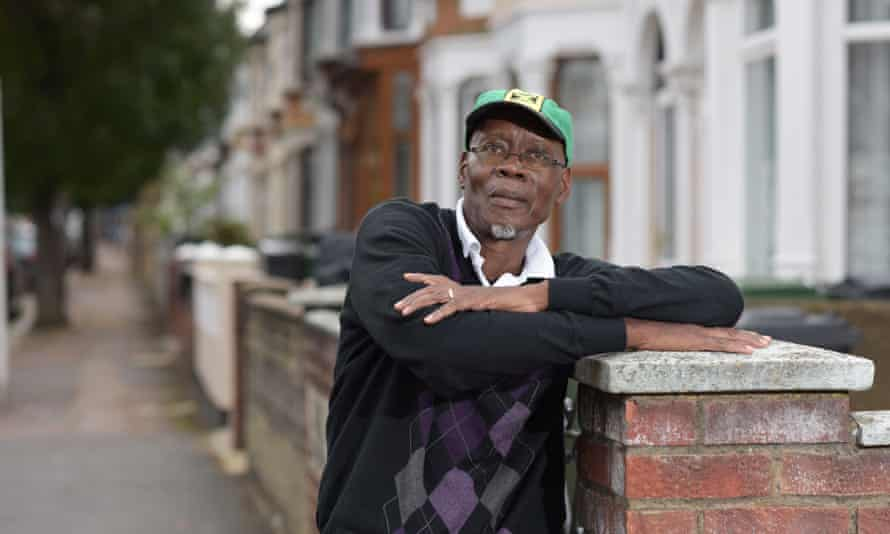 Ken Morgan on his first day back in London from Jamaica in 2018