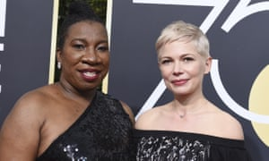 Tarana Burke with Michelle Williams.