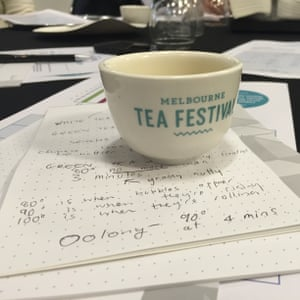 'In case you can't tell your oolongs from your matchas...': tasting notes from a tea appreciation workshop