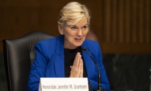 Former Michigan Governor Jennifer Granholm testifies before the Senate Energy and Natural Resources Committee during a hearing to examine her nomination to be Secretary of Energy.