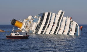 The Costa Concordia lies stricken off the shore of Giglio in January 2012.