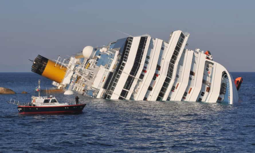 The Costa Concordia lies stricken off the shore of Giglio in January 2012.
