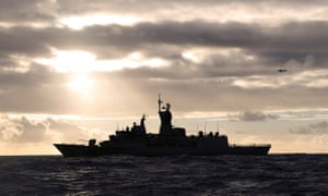 HMAS Perth transits through the Southern Indian Ocean