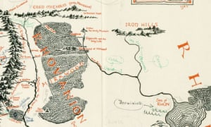 a recently discovered map of middle earth annotated by jrr tolkien