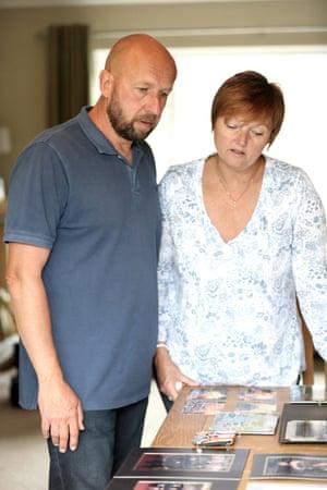 Roger Moore with his wife, Karen.