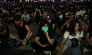 A rally against police brutality in Hong Kong on Sunday. China says what happens in the city are an 'internal affair'.