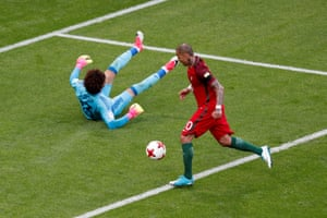 Ricardo Quaresma opens the scoring for Portugal