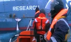 Sea Shepherd released graphic footage of Japanese fishermen harpooning whales in the Southern Ocean.