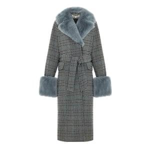 Blue faux fur trim, £399, whistles.com.