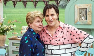 'A wise and kind guide': Sandi Toksvig with Noel Fielding on The Great British Bake Off