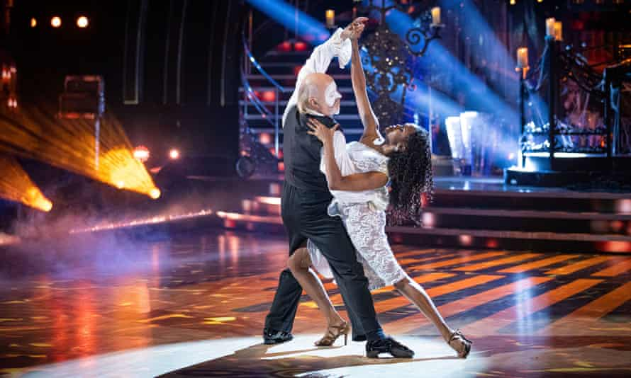 Oti Mabuse and Bill Bailey during the live show on Saturday 5 December.