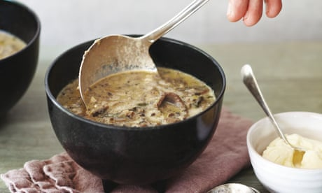 Peter Gordon's creamy mushroom and hazelnut soup recipe