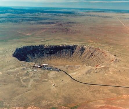 The Barringer Crater in Arizona known as Canyon Diablo,