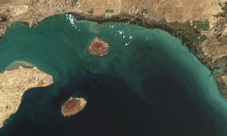 Satellite view from the Strait of Hormuz