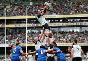 Ireland v Italy in a Rugby World Cup warm-up match at the Aviva Stadium in Dublin earlier this month