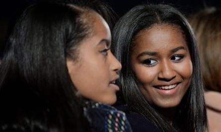 Malia, left, and Sasha