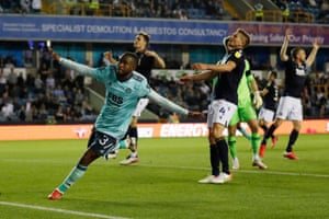 Ademola Lookman opens the scoring for the Foxes at the New Den.